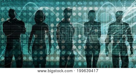 Business Team of Professionals Standing for Career Concept
