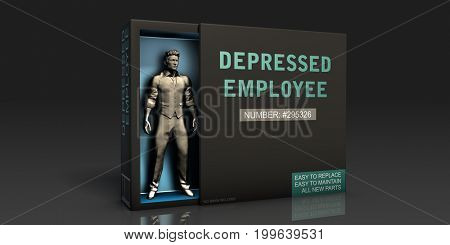 Outsourced Labor Employment Problem and Workplace Issues 3D Illustration Render