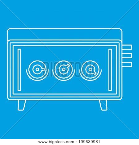 Musical equipment icon blue outline style isolated vector illustration. Thin line sign