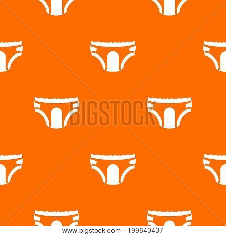 Adult diapers pattern repeat seamless in orange color for any design. Vector geometric illustration