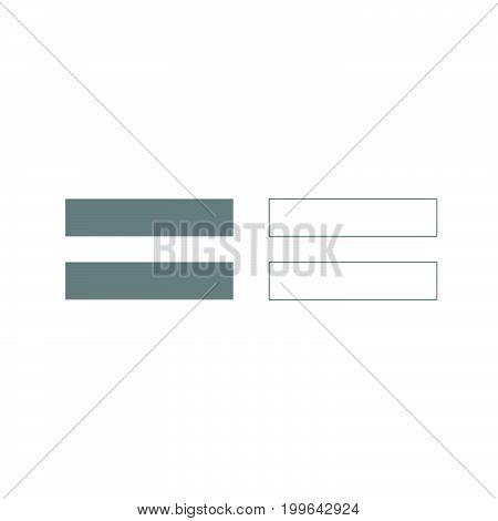 Sign Equally Grey Set Icon .