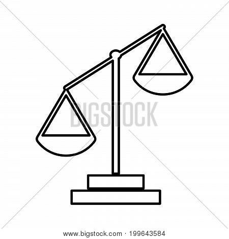 Law Scale Black Color Icon .