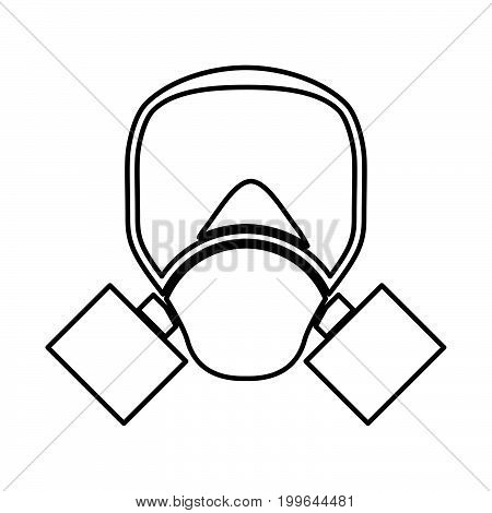 Gas Mask Black Color Icon .