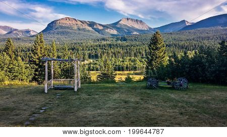 Gladstone Mountain Ranch in Gladstone Valley, Southern Alberta, Canada