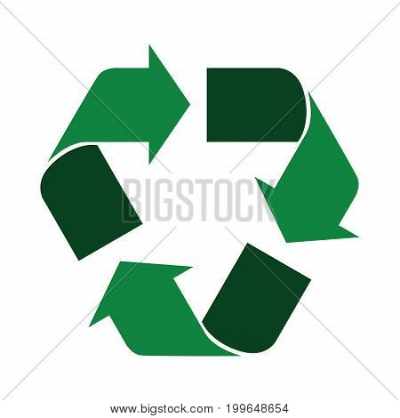 Recycle Icon Green Dark Light