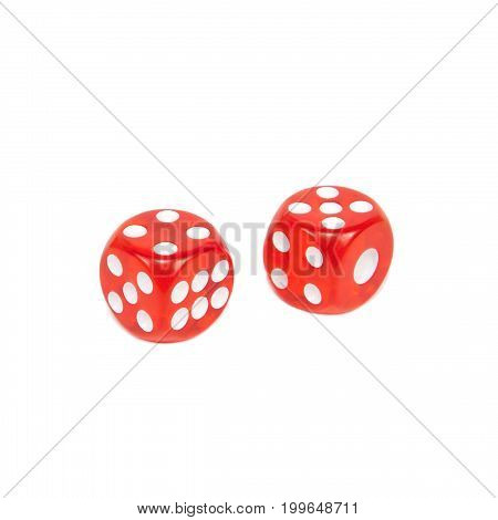 Two Dice Isolated On White Background