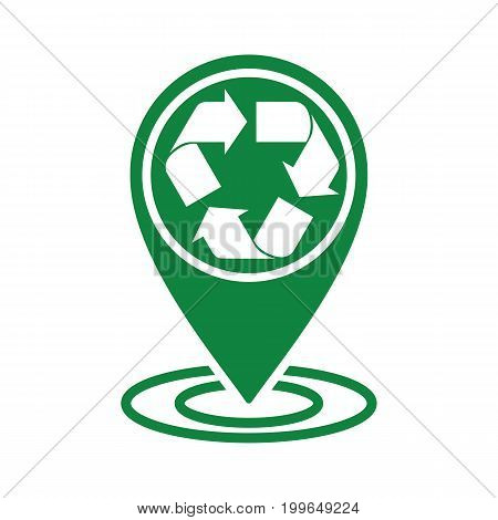 Recycle Icon Green Location Pin