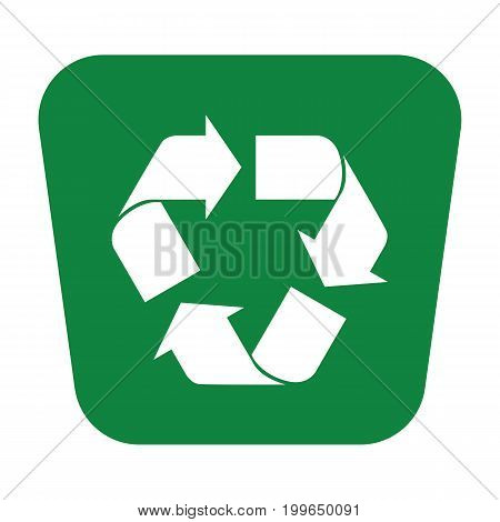 Recycle Icon Green Rectangle