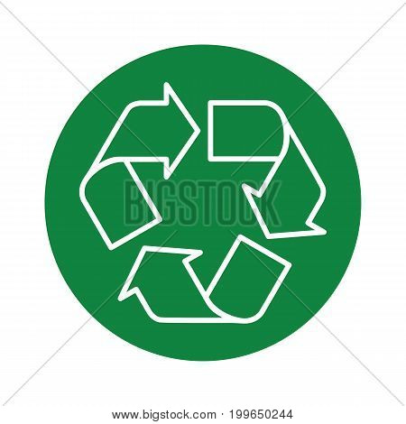 Recycle Icon Green Round Transparent