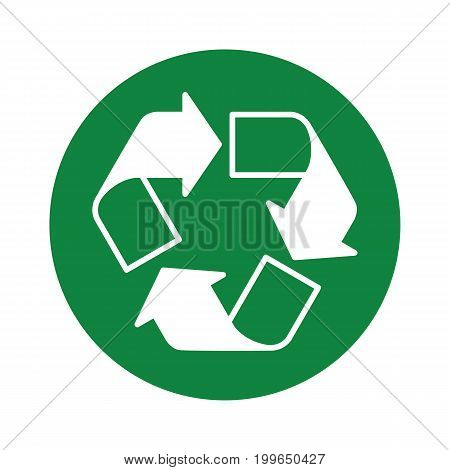 Recycle Icon Green Round
