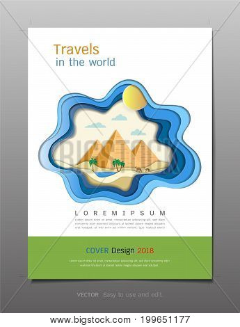 Minimal covers book design template vecto, Travel and tourism concept, Use for brochure, annual report, flyer - leafle, magazine, poster, corporate presentation, portfolio, banner, website (A4 size layout)