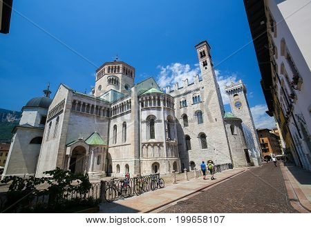 Trento Cathedral In Trento, Trentino, Italy