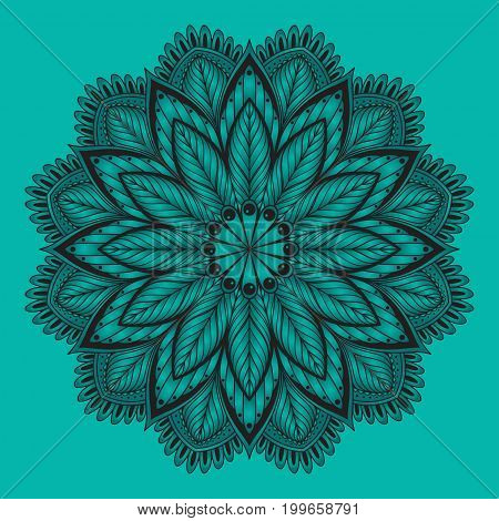 Oriental mandala. Vector ornament Template for any surface. Design element.