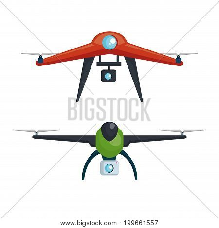 drone photography and video created with camera vector illustration