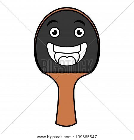 ping pong racket kawaii character vector illustration design