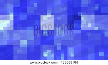Abstract Fractal Blue Flashing Cubes Illustration Background