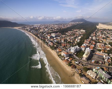 Aerial View Ingleses Beach In Florianopolis, Brazil. July, 2017.