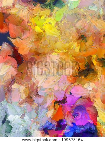 Colorful Abstract Painting    3D rendering
