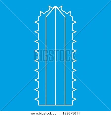 Plant of desert icon blue outline style isolated vector illustration. Thin line sign