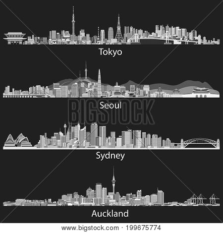 Tokyo, Seoul, Sydney, Auckland_2