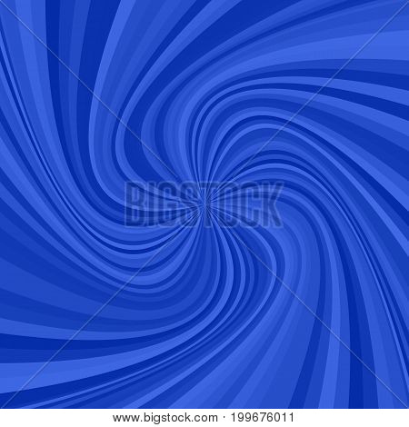 Abstract spiral ray background - vector illustration from swirling rays in blue tones