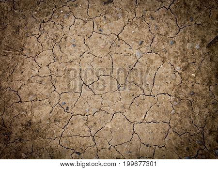Dry land texture background pattern top view
