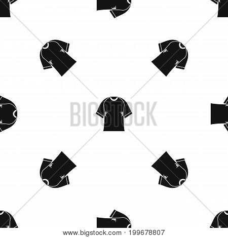 Raglan tshirt pattern repeat seamless in black color for any design. Vector geometric illustration