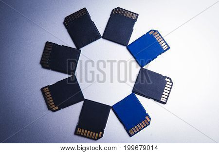 digital media sd memory card are different, many