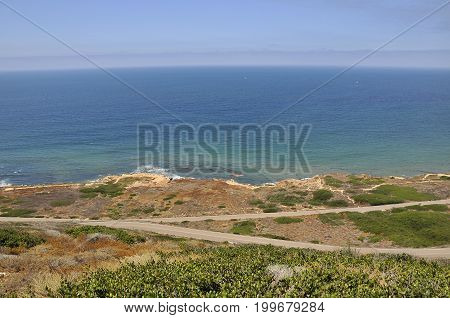 View over the Pacific ocean from Cabrillo Point, San Diego
