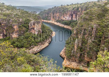 View From Top Of Furnas Canyon - Capitolio - Minas Gerais - Brazil