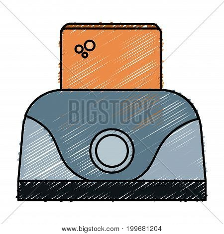 toaster bread electric icon vector illustration design