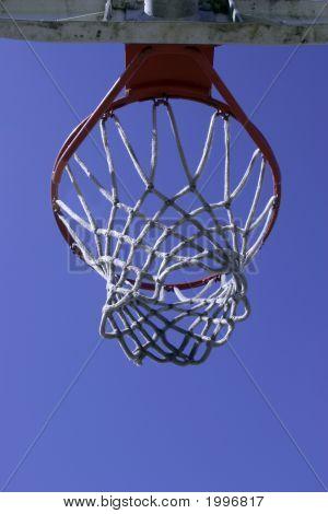 Below A Basketball Hoop