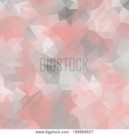 Abstract mosaic background of triangular polygons. Geometrical background in pastel colors. Vector illustration