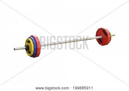 bar-bell isolated under the white background