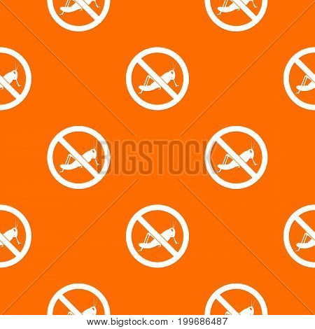 No locust sign pattern repeat seamless in orange color for any design. Vector geometric illustration