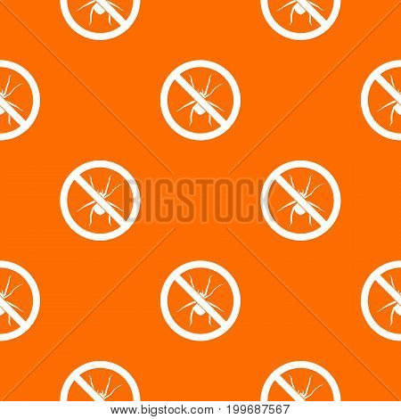No spider sign pattern repeat seamless in orange color for any design. Vector geometric illustration