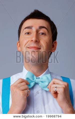 Blue Bow Tie.