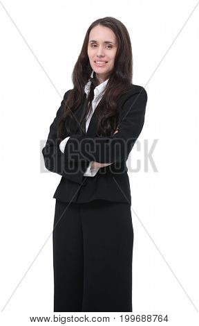 portrait of a woman lawyer in a business suit