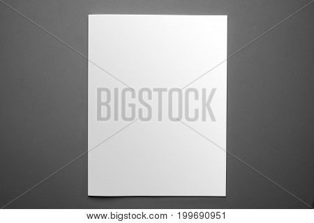 Blank Magazine Cover Template Isolated On Grey Background With Clipping Path Ready For Your Artwork