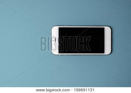 Blank smart phone on pink background - ready for your artwork