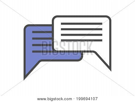 Speech bubble linear vector icon. Dialog window isolated on white background vector illustration.