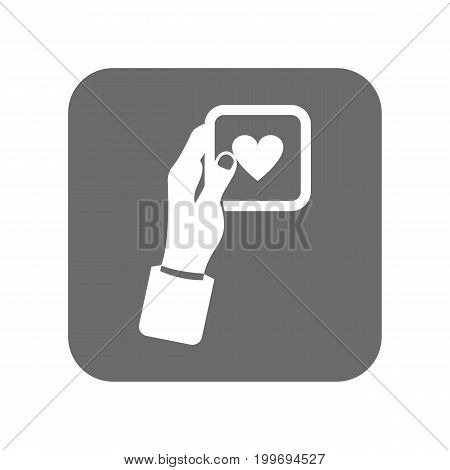Customer service icon with like sign. Support management, service centre pictogram isolated vector illustration.