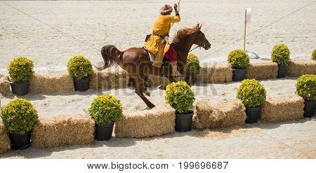 Ottoman Horseman  Archer Riding And Shooting