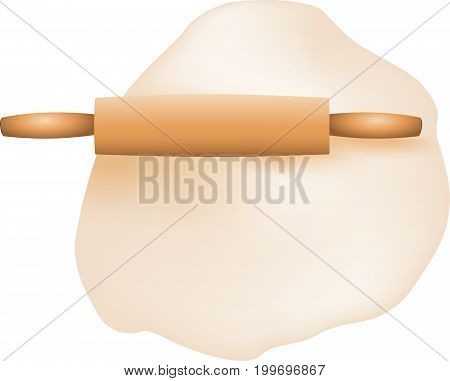 Roll up dough with a wooden rolling pin