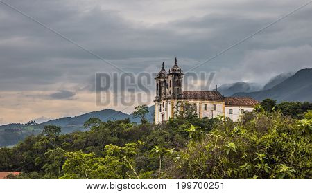 Ouro Preto In The State Of Minas Gerais Is One Of Brazil's Best-preserved Colonial Towns And A Unesc