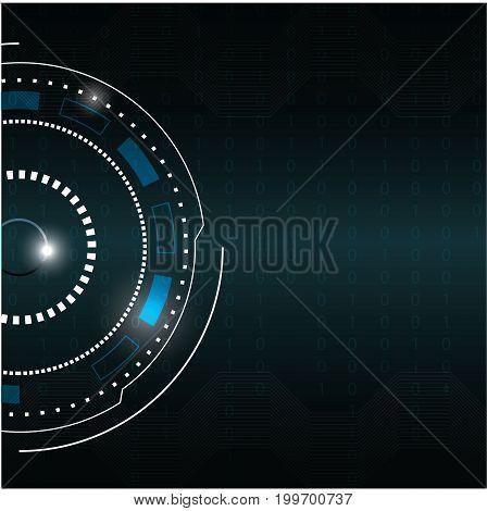 Futuristuc Circle abstract digital technology background vector illustration