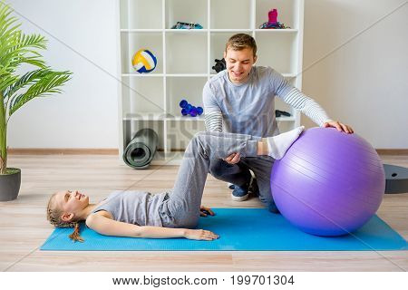 Physiotherapists working on rehabilitation at a hospital