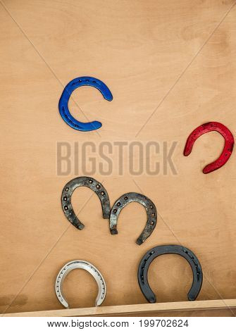 Lucky Horseshoes With Nail Holes