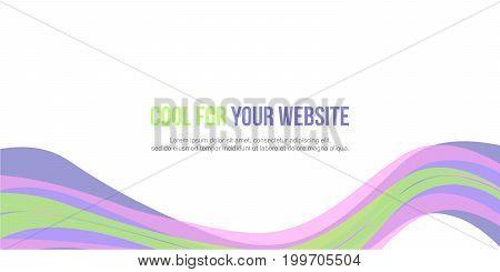 Design abstract background header website style vector art