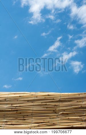 Mat Made Of Straw Used As A Wall